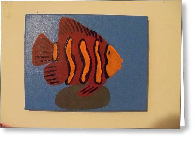 Lonely Fish Greeting Card by Rhonda Jackson
