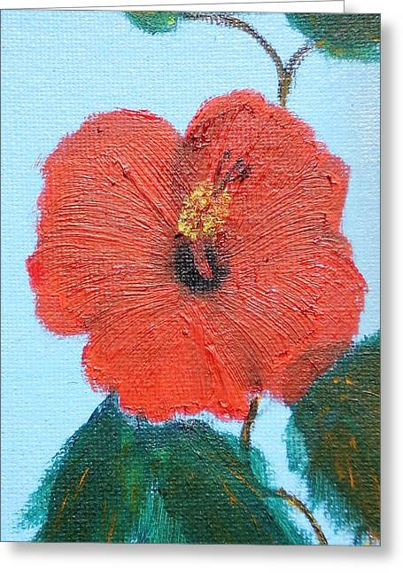 lonely Hibiscus  Greeting Card by Francis Roberts ll