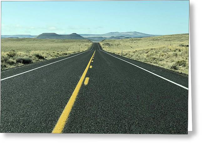 Lonely Highway Greeting Card