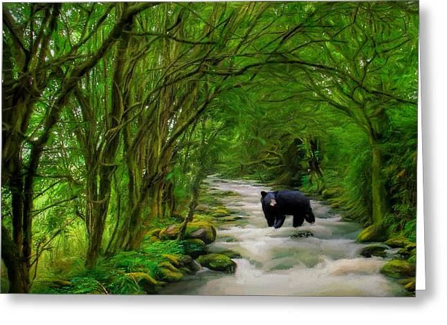 Lonely Hunter Greeting Card by Steven Richardson