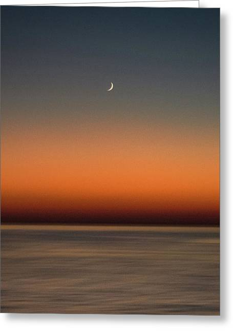 Lonely Moon Greeting Card