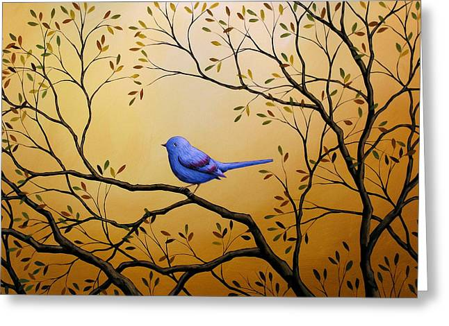 Lonely Night By Amy Giacomelli Bird Art Greeting Card