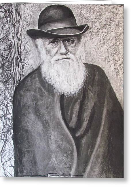 Greeting Card featuring the drawing Lonely Occupation - C. Darwin by Eric Dee