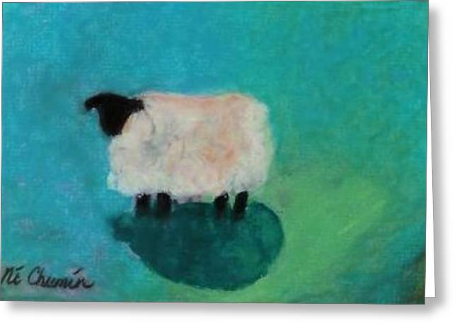 Lonely Sheep Greeting Card by Elaine Cummins