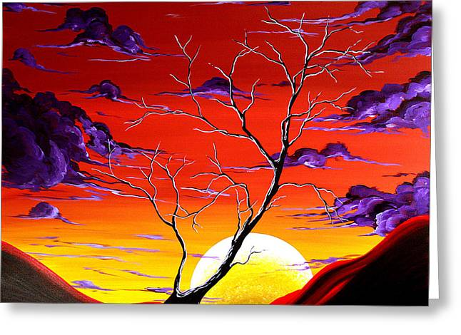 Lonely Soul By Madart Greeting Card by Megan Duncanson