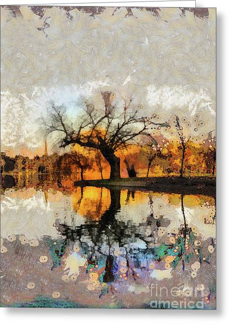 Lonely Tree And Its Thoughts Greeting Card