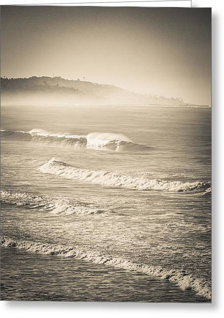 Greeting Card featuring the photograph Lonely Winter Waves by T Brian Jones
