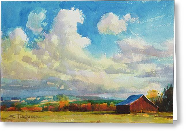 Lonesome Barn Greeting Card