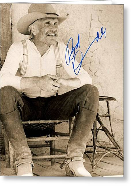 Lonesome Dove Gus Signed Print Greeting Card by Peter Nowell