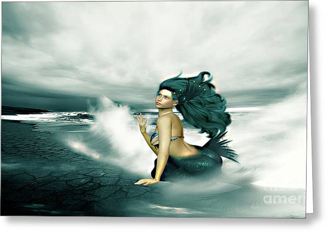 Lonesome Mermaid Greeting Card