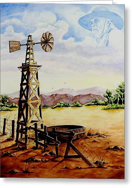 Lonesome Prairie Greeting Card by Jimmy Smith