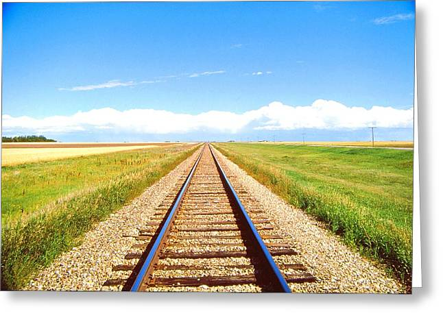 Lonesome Railroad Greeting Card