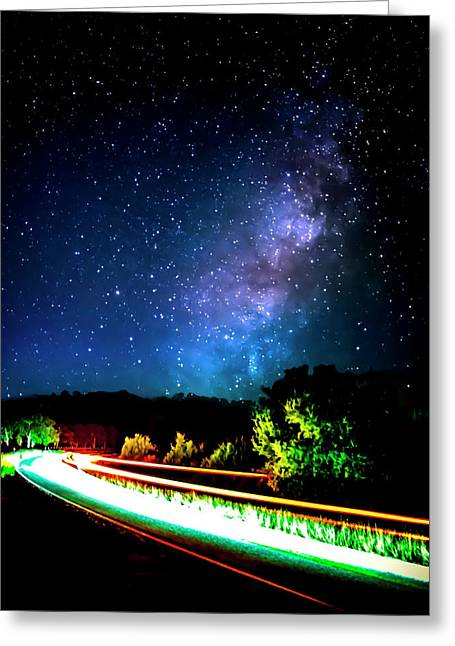 Lonesome Texas Highway Greeting Card by David Morefield