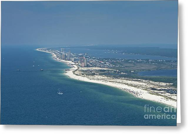 Long, Aerial, Beach View Greeting Card