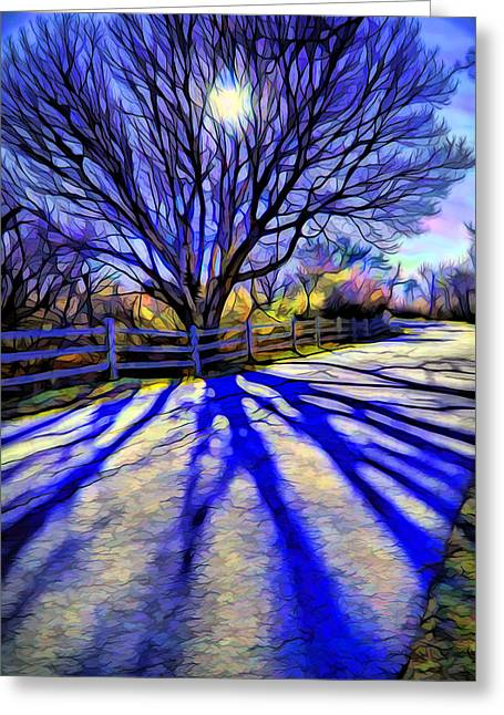 Long Afternoon Shadows Greeting Card by Lilia D