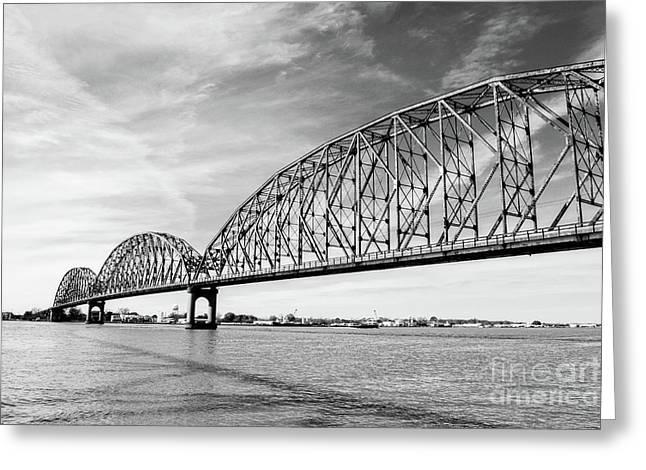 Long-allen Bridge Morgan City Greeting Card