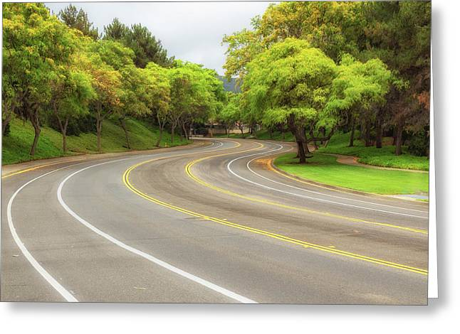 Long And Winding Road Greeting Card