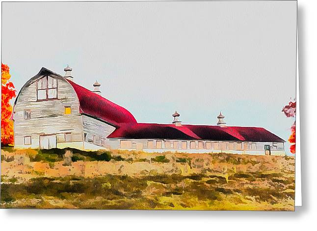 Long Barn Greeting Card by Ryan Burton