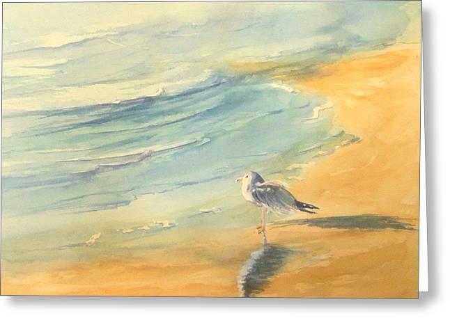 Long Beach Bird Greeting Card
