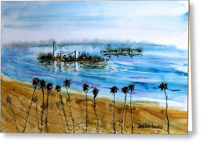 Long Beach Oil Islands Before Sunset Greeting Card