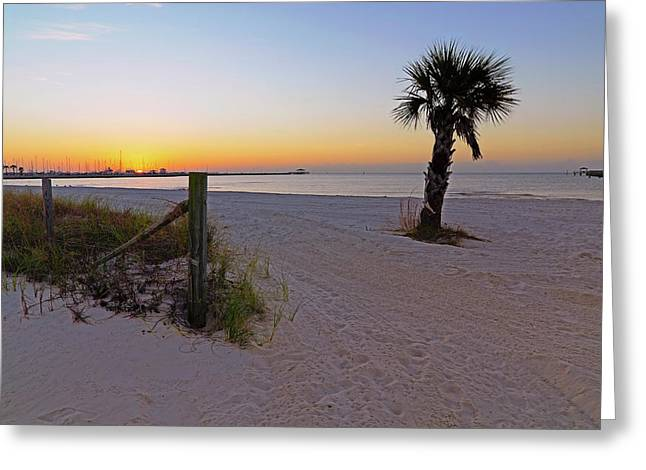 Greeting Card featuring the photograph Long Beach Sunrise - Mississippi - Beach by Jason Politte