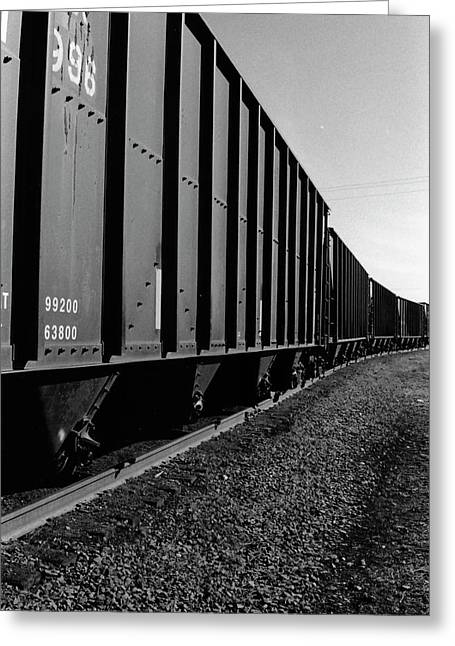 Greeting Card featuring the photograph Long Black Train by Tara Lynn