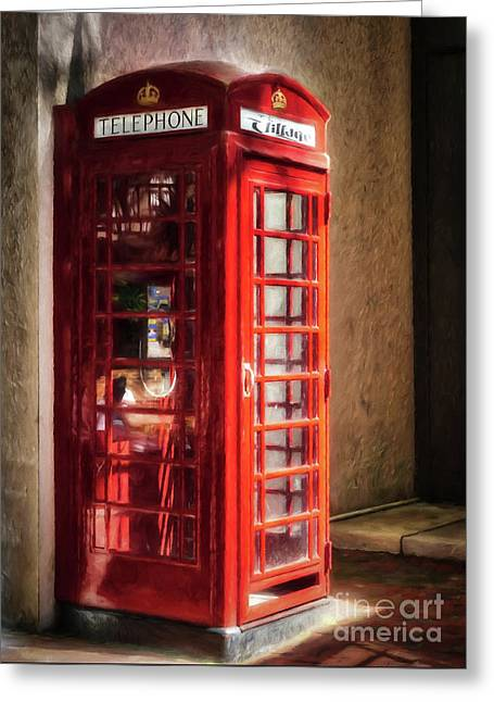 Greeting Card featuring the photograph Long Distance Call To London by Mel Steinhauer