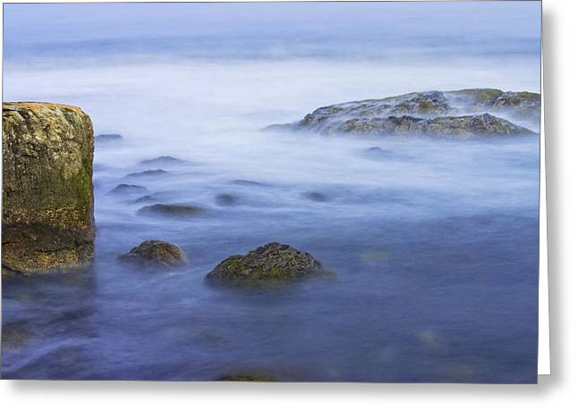 Long Exposure Of Ocean Waves At Sunset. Greeting Card by Keith Webber Jr
