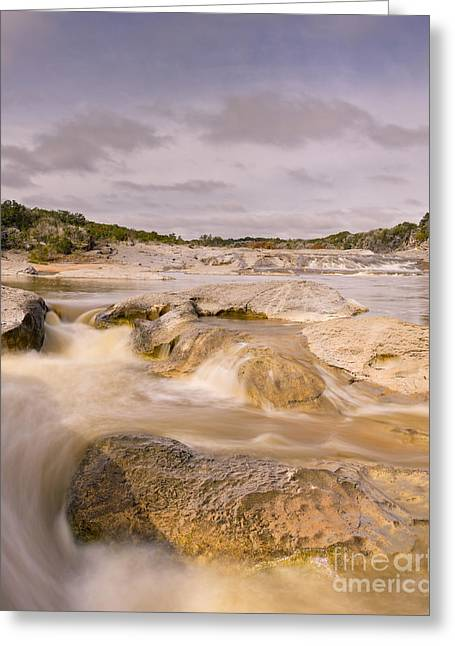 Long Exposure Of The Pedernales River - Pedernales Falls State Park Texas Hill Country Greeting Card by Silvio Ligutti
