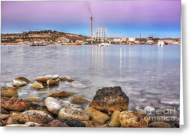 Long Exposure Sunset In Marsaxlokk Greeting Card by Stephan Grixti
