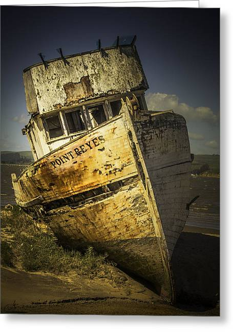 Long Forgotten Boat Greeting Card