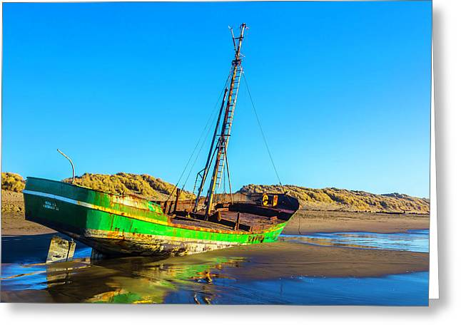 Long Forgotten Fishing Boat Greeting Card