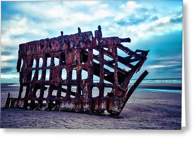 Long Forgotten Shipwreck Greeting Card by Garry Gay
