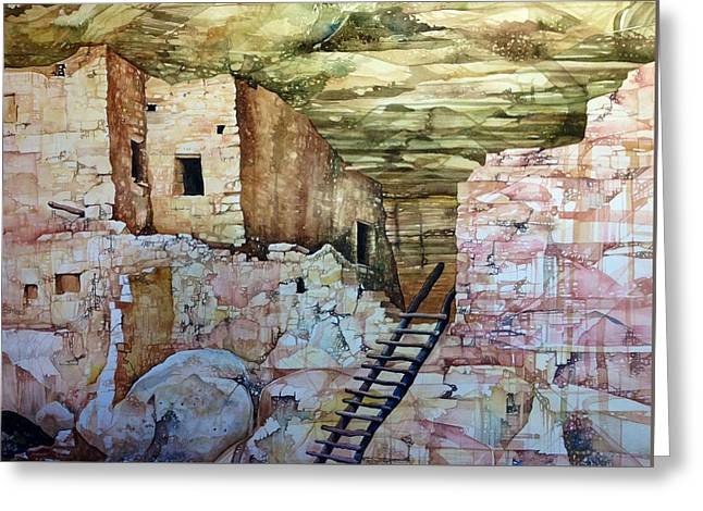 Long House, Mesa Verde National Park Greeting Card by Lance Wurst