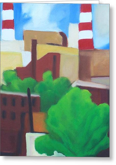 Long Island City View Greeting Card by Ron Erickson