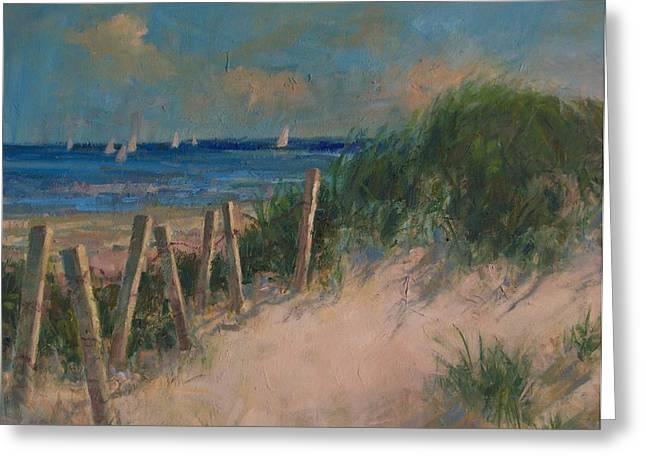 Long Island Dunes Greeting Card