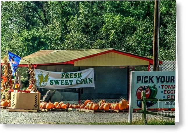 Long Island Farmstand/farm Greeting Card