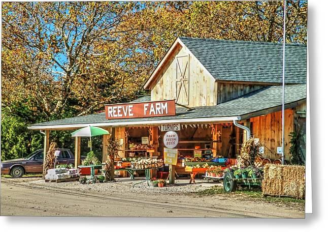 Long Island Farmstand Greeting Card