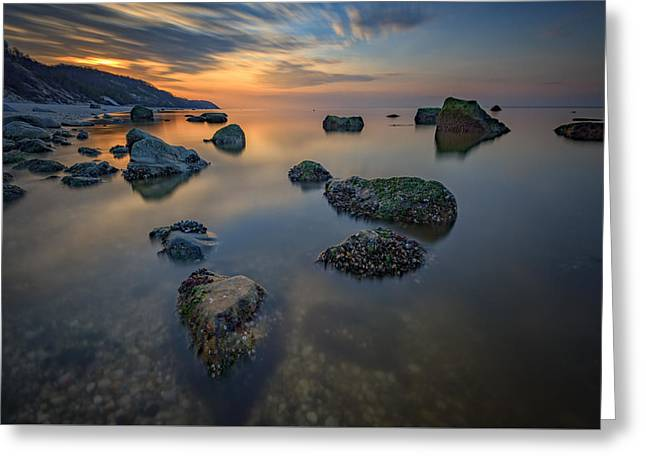 Long Island Sound Tranquility Greeting Card by Rick Berk