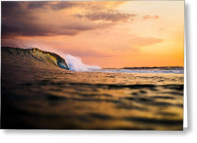 Long Island Wavescape Greeting Card by Ryan Moore