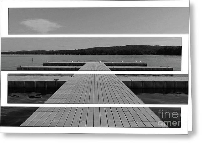 Long Lake Dock Greeting Card