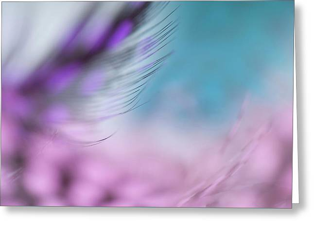 Greeting Card featuring the photograph Long Lashes. Angels Flight Series by Jenny Rainbow