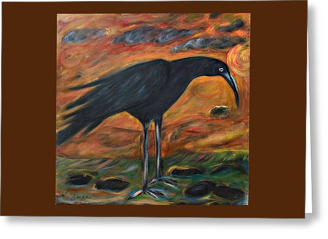 Long Legged Crow Greeting Card