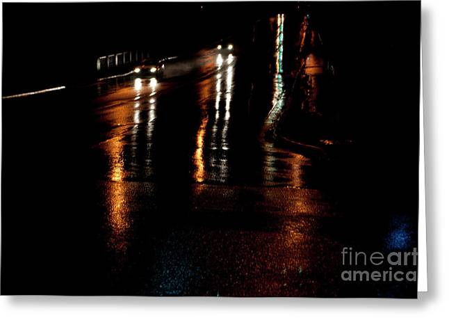 Long Lights At Night Greeting Card by Gary Chapple