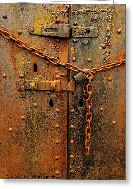 Long Locked Iron Door Greeting Card