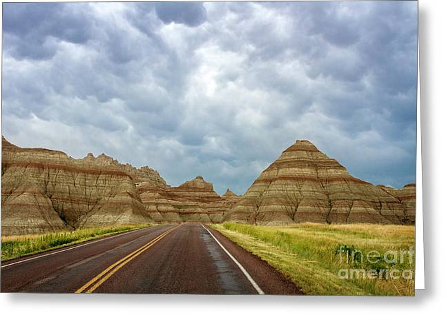 Long Lonesome Highway Greeting Card