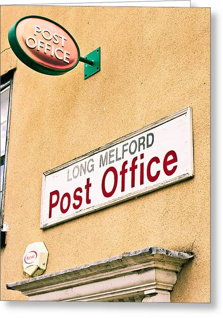 Long Melford Post  Office Greeting Card by Tom Gowanlock