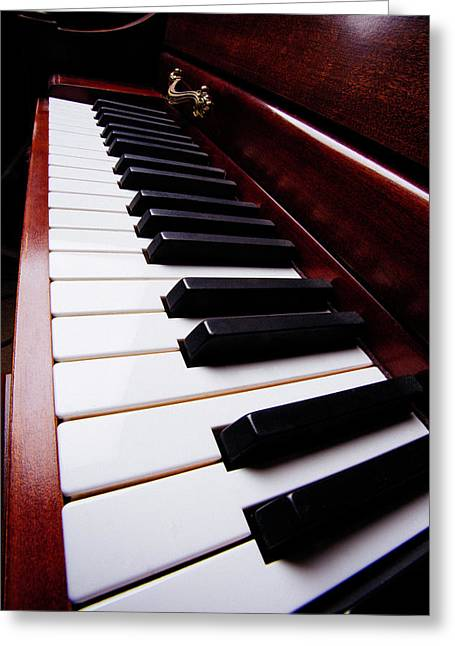 Long Piano View Greeting Card by Garry Gay