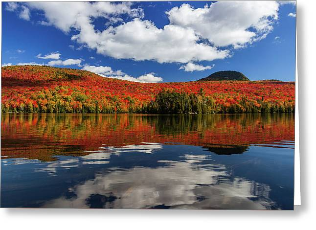 Long Pond And Clouds Greeting Card