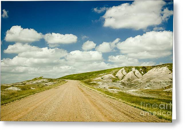 Long Road Ahead Greeting Card by Sandy Adams